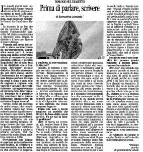 Articolo - La Nuova Venezia 270809